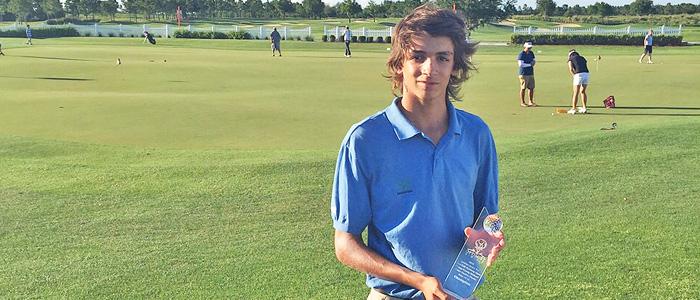 Segundo Oliva Pinto ganó el Optimist Junior Core Golf Academy jugado en Florida, Estados Unidos