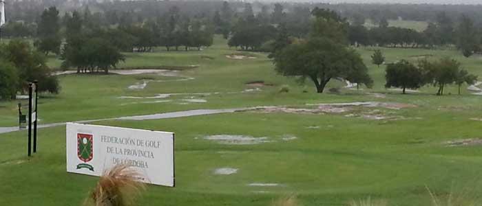 Por las intensas lluvias se suspendió el XVII° Campeonato Four Ball de la Provincia que debía jugarse en Valle del Golf